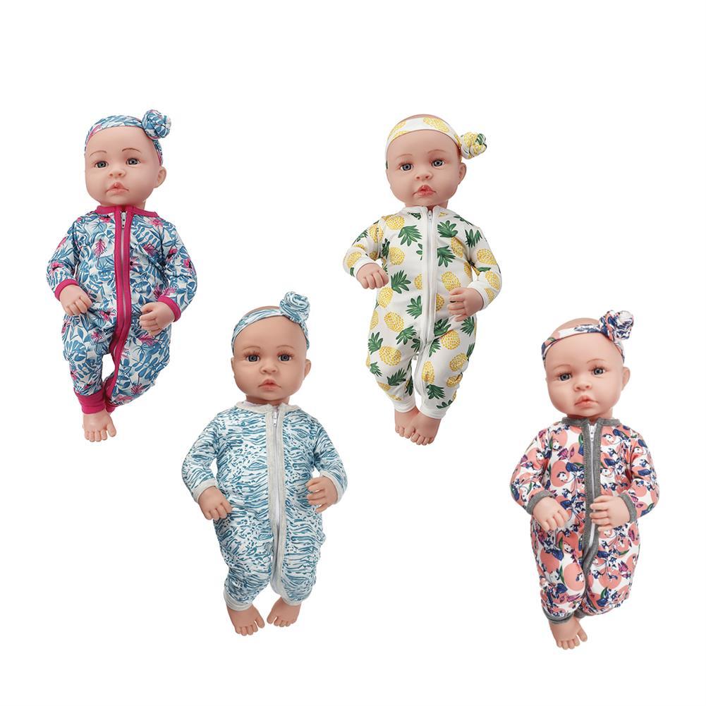 baby-rattles-mobiles 45cm Soft Silicone Vinyl Dolls Realistic Handmade Newborn Baby for Children Birthday Gift Play Toys HOB1841891