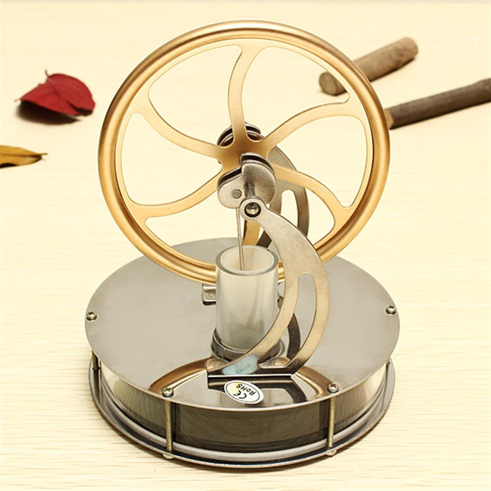 science-discovery-toys STEM Alloy Low Temperature Difference Stirling Engine DIY Toy for Gift Collection Home Decor HOB74187