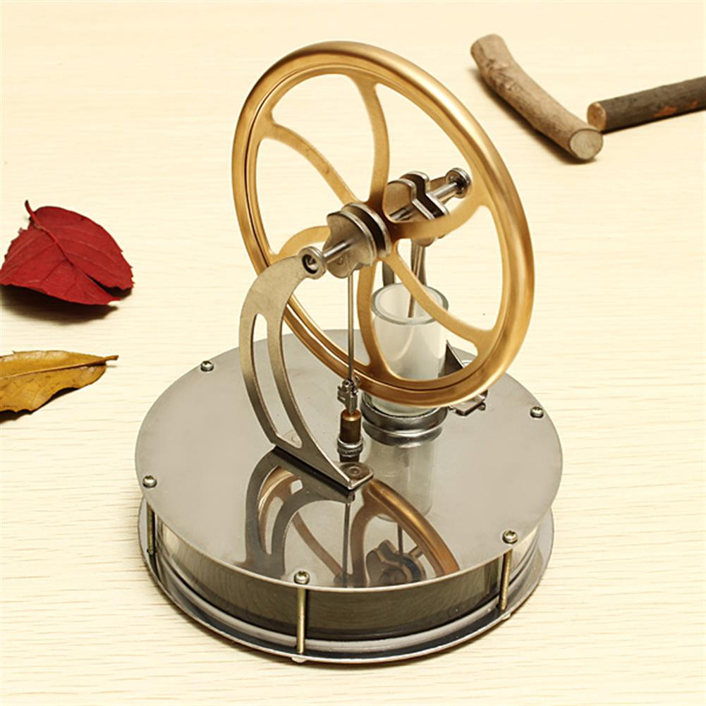 science-discovery-toys STEM Alloy Low Temperature Difference Stirling Engine DIY Toy for Gift Collection Home Decor HOB74187 1