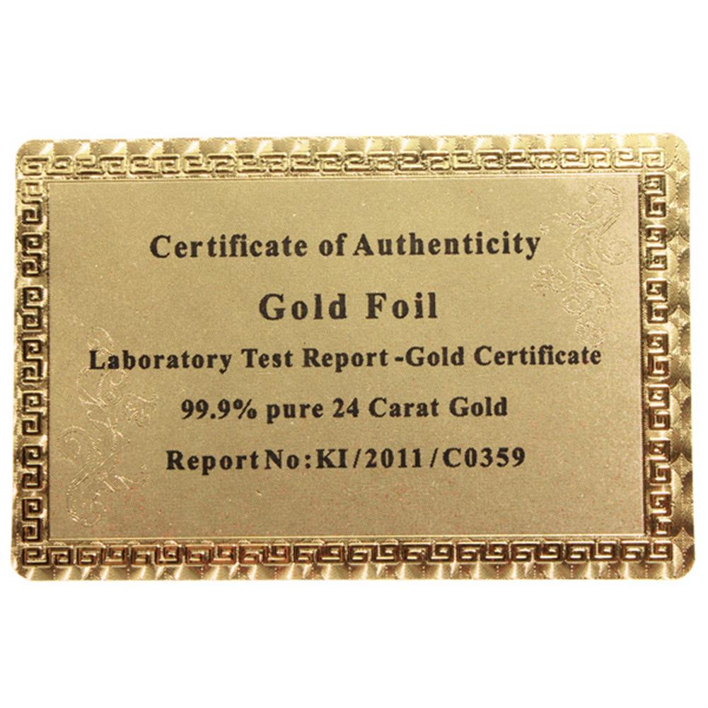 puzzle-game-toys Certified Pure 24 Carat Gold Foil Plated Poker Cards Perfect Gift HOB915279 1