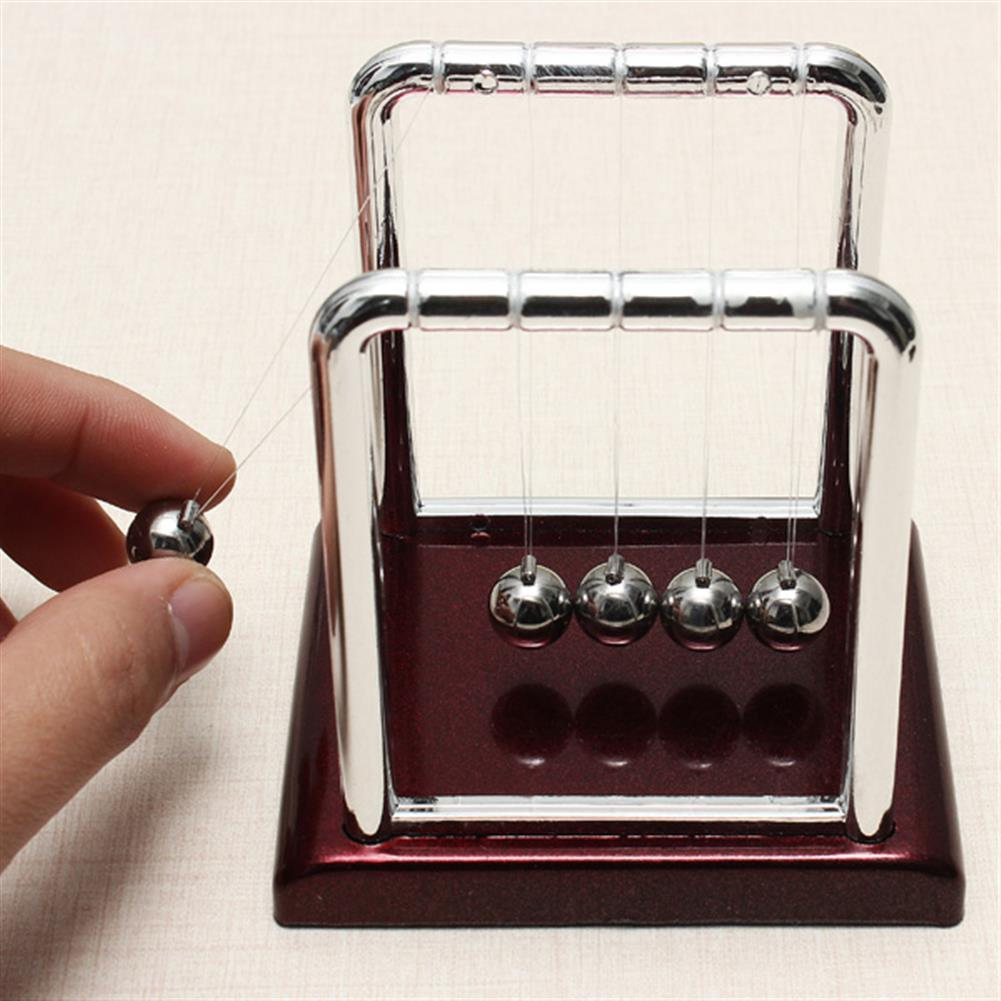 science-discovery-toys STEM Small Size Cradle Steel Balance Ball Physics Pendulum Toys HOB923211 2