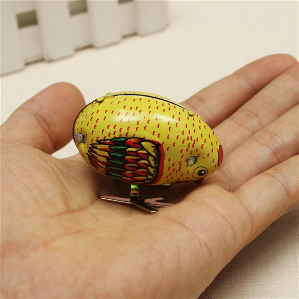 wind-up-tin-toys Wind Up Chick Tin Toy Clockwork Spring Pecking Chick Vintage Style HOB925319 1