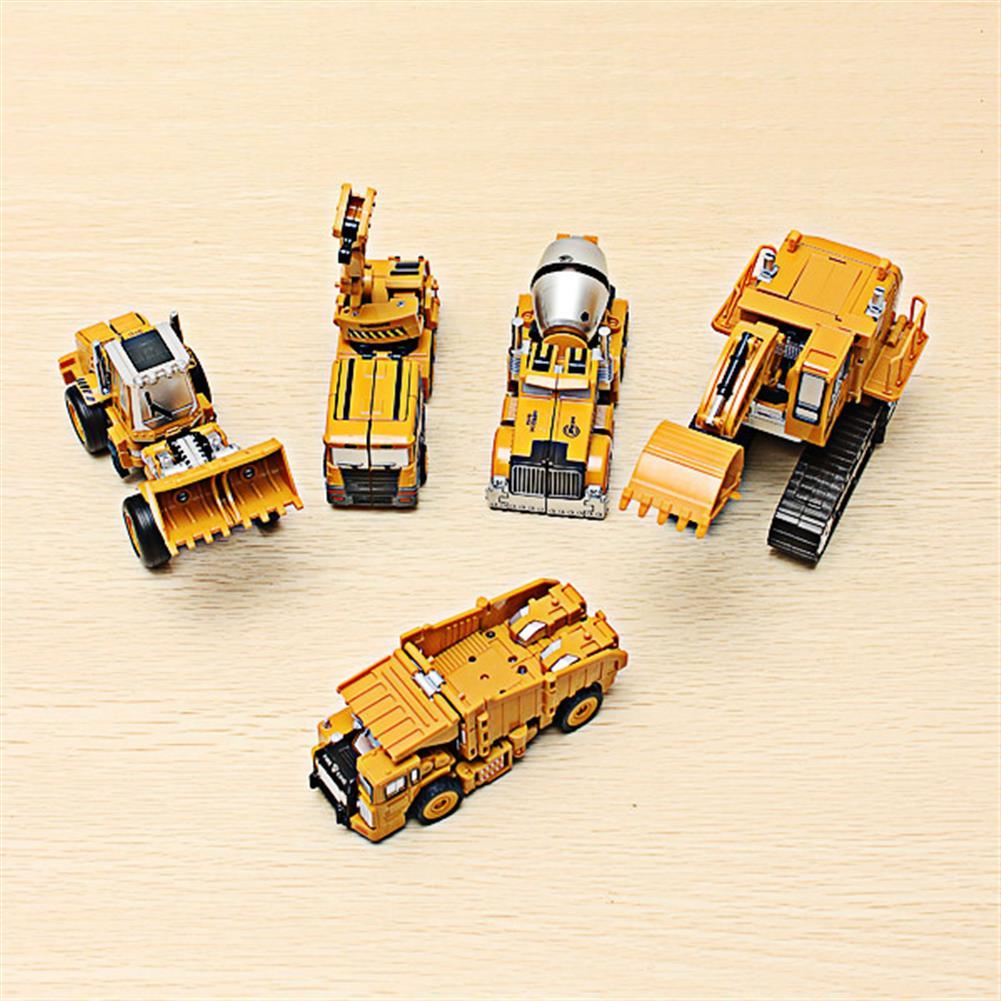 dolls-action-figure Metal Truck Hercules 5 in 1 Combination Robot Excavator Crane Vehicle Transformable Toys HOB953808 1