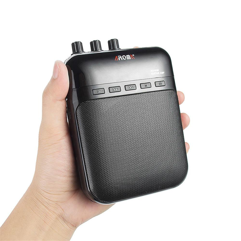 speakers-subwoofers AROMA AG-03M Portable Charging Mini Guitar Amplifier Black HOB954057 1