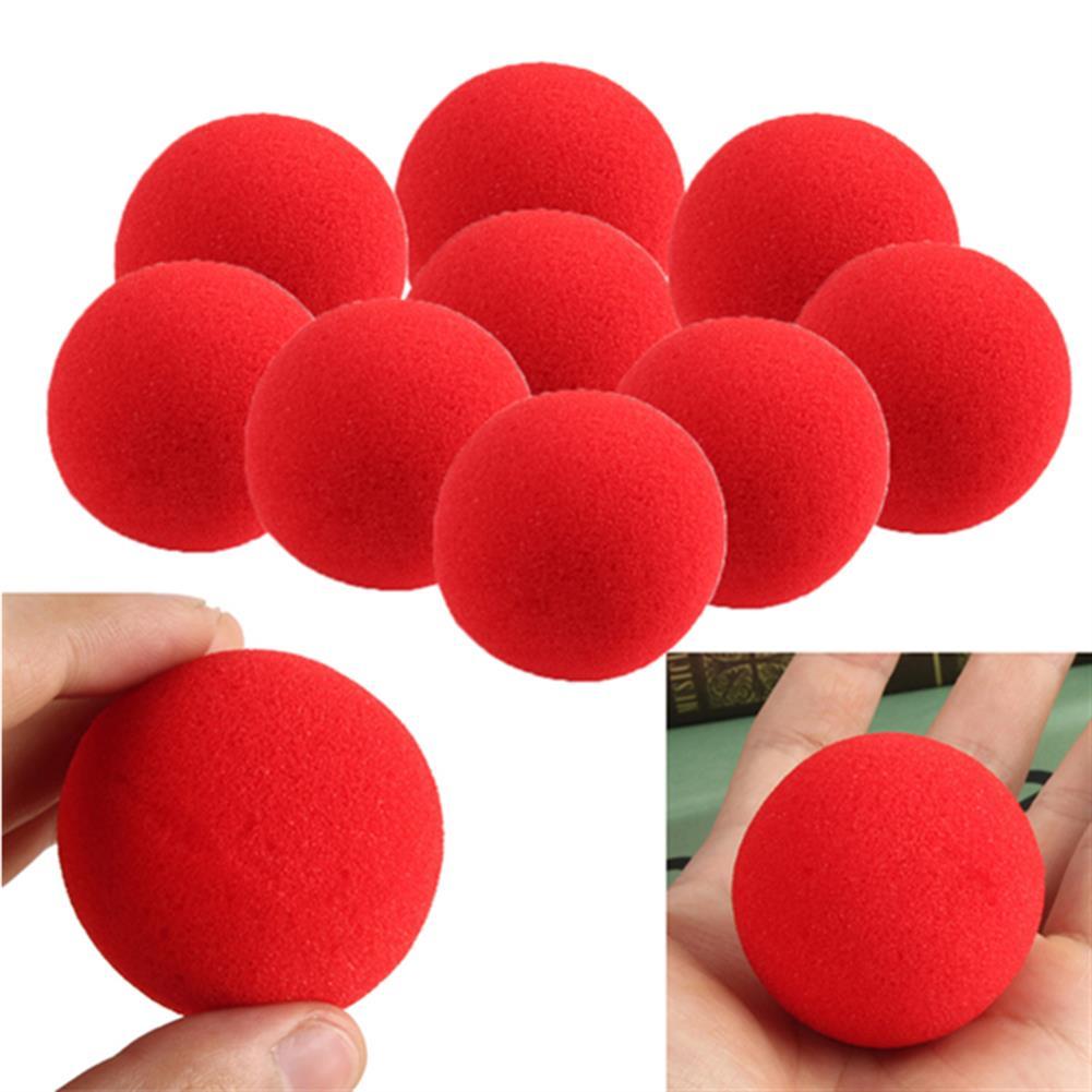 gags-practical-jokes 10PCS Close Up Magic Street Trick Soft Sponge Ball Props Clown Nose HOB982296