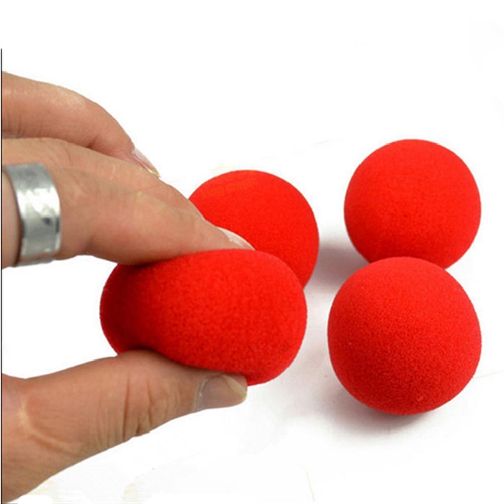 gags-practical-jokes 10PCS Close Up Magic Street Trick Soft Sponge Ball Props Clown Nose HOB982296 1