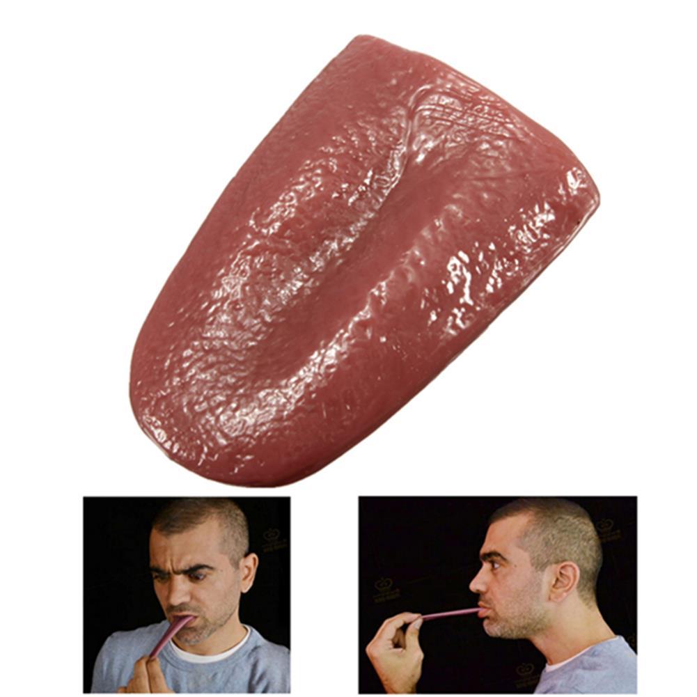 novelties Realistic Tongue Gross Jokes Prank Magic Tricks Halloween Horrific Prop HOB986509
