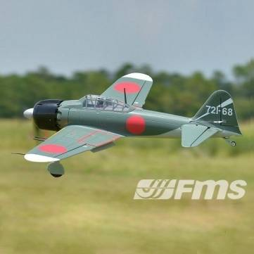 FMS Zero Fighter A6M5 1100mm 43.3″ Wingspan RC Warbird Airplane PNP